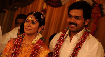 Actor Karthi and Ranjani wedding photos