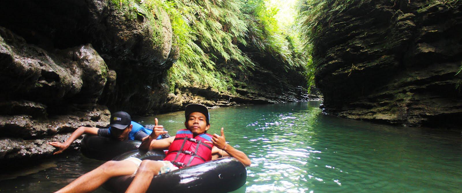 River Tubing Santirah, Wisata Jaram Yang Cocok Untuk Semua Kalangan Usia.