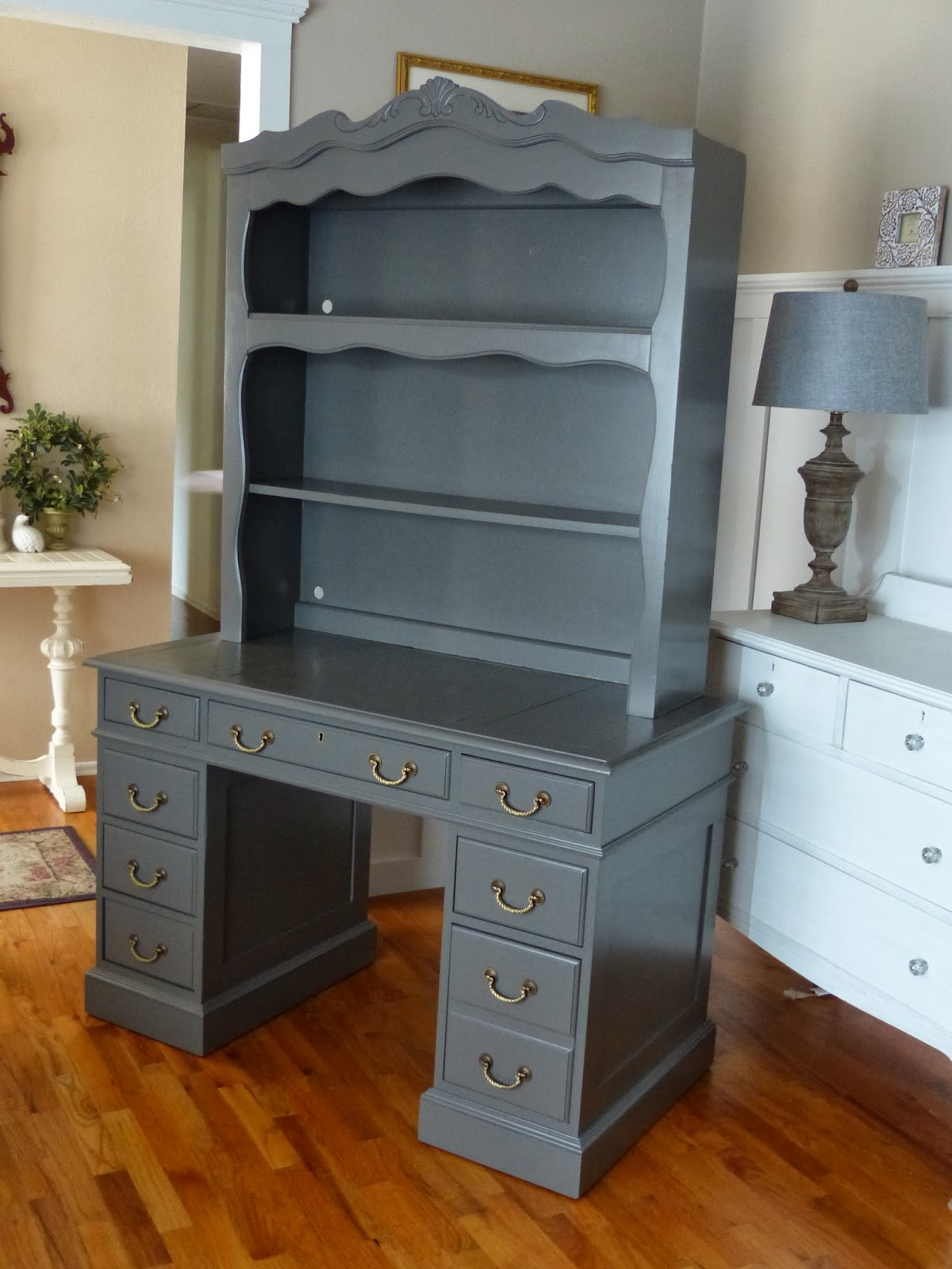 For the Love of it - For The Love Of It: Antique Desk And Hutch