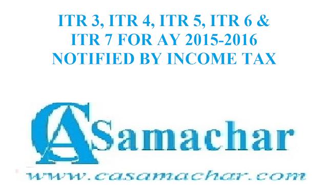 ITR AY 2015-2016