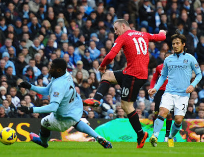 Wayne Rooney Manchester City vs Manchester United 2012