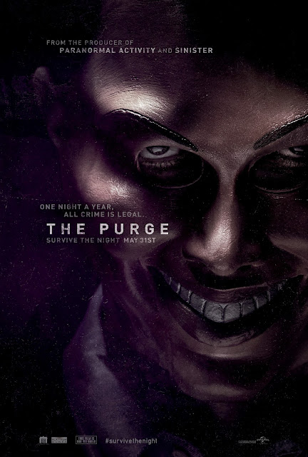 The Purge poster. Copyright by respective production studio and/or distributor. Intended for editorial use only.