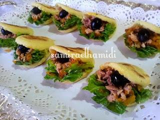 بطبوط صغير معمر بالطون والخضر من شهيوات رمضان