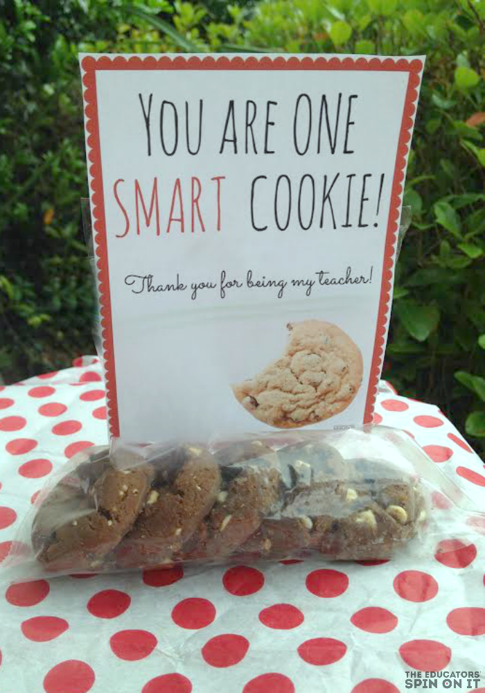 picture relating to You're One Smart Cookie Printable referred to as Cookie Themed Trainer Appreciation Present Thought (incorporates