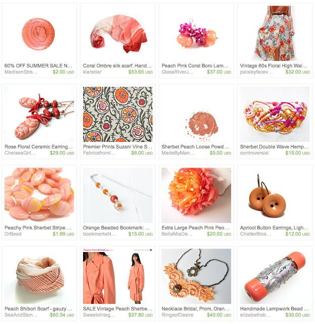 Coral themed gift guide on Etsy #coral #summer