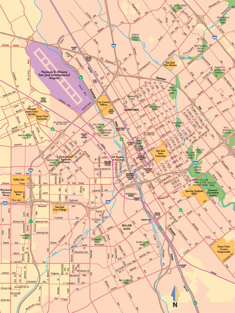 san jose california map bnhspinecom