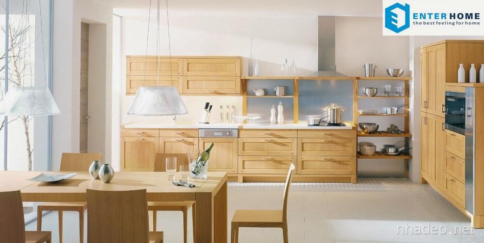 tủ bếp nhà ăn cao cấp enterhome