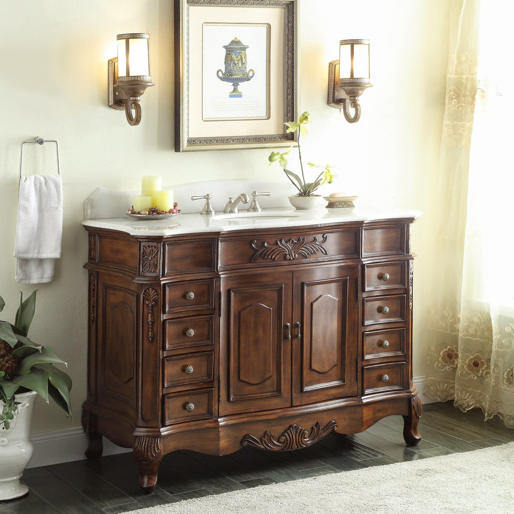 Discount bathroom vanities antiquity with antique for Looking for bathroom vanities