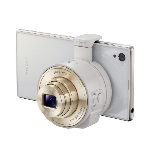 Sony DSC-QX10/W Smartphone Attachable 4.45-44.5mm Lens-Style Camera - image