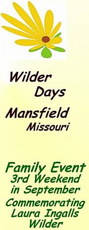 Wilder Days  ~  Annual Celebration in Mansfield