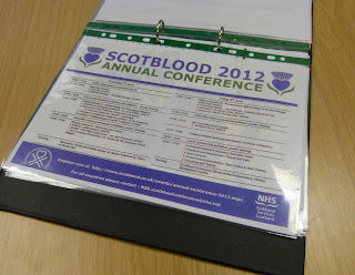 Scotblood is the annual conference of the Scottish National Blood Transfusion Service