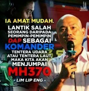 #MH370 : MP Pembangkang Mampu Cari Bangkai Pesawat?!