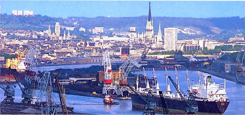 Ma tres du vent mdv le port de rouen vers 1970 - Port irlandais en 7 lettres ...