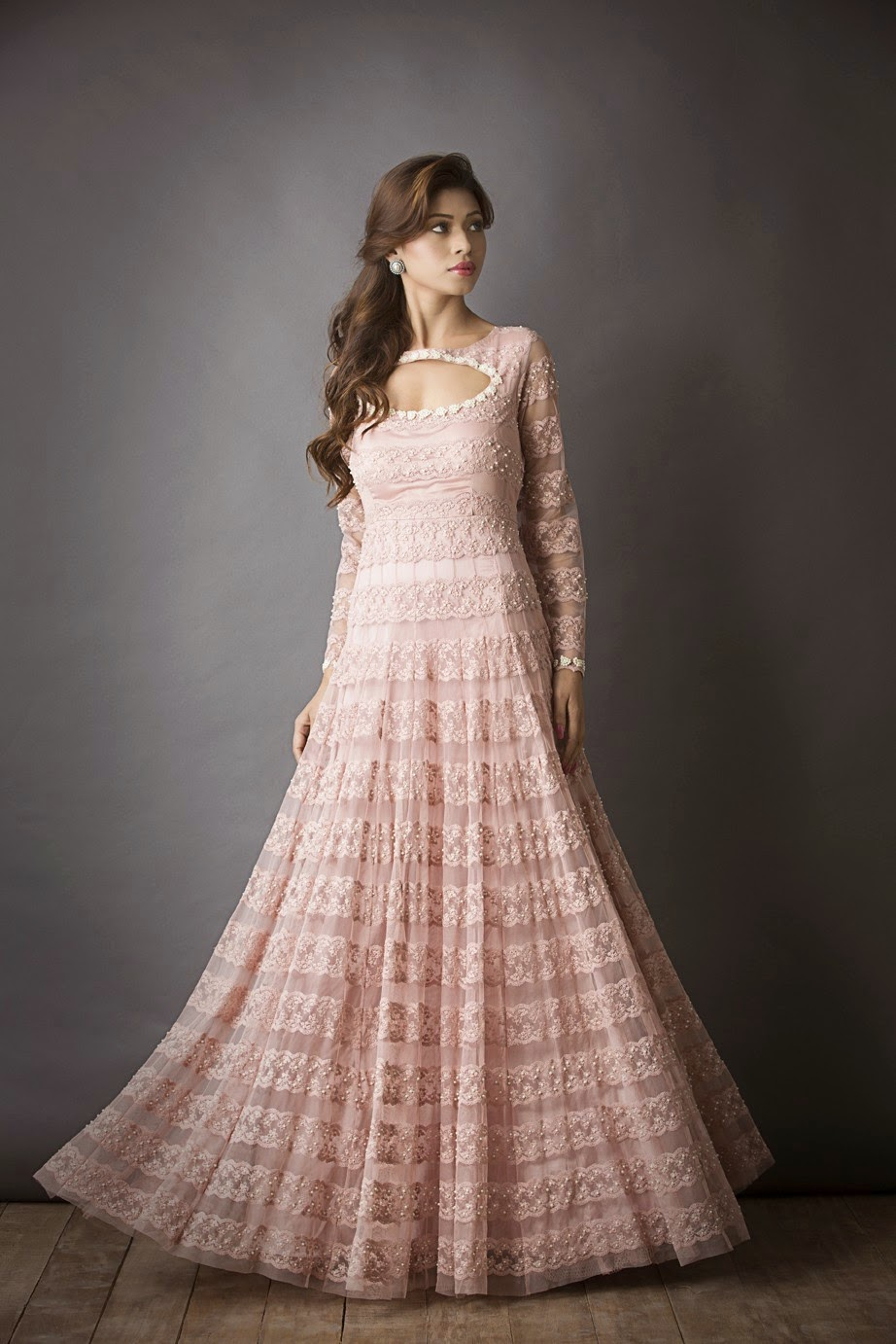 Pakistani Designer Straight Anarkali Suits