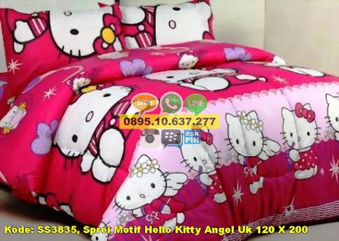 Sprei Motif Hello Kitty Angel Uk 120 X 200