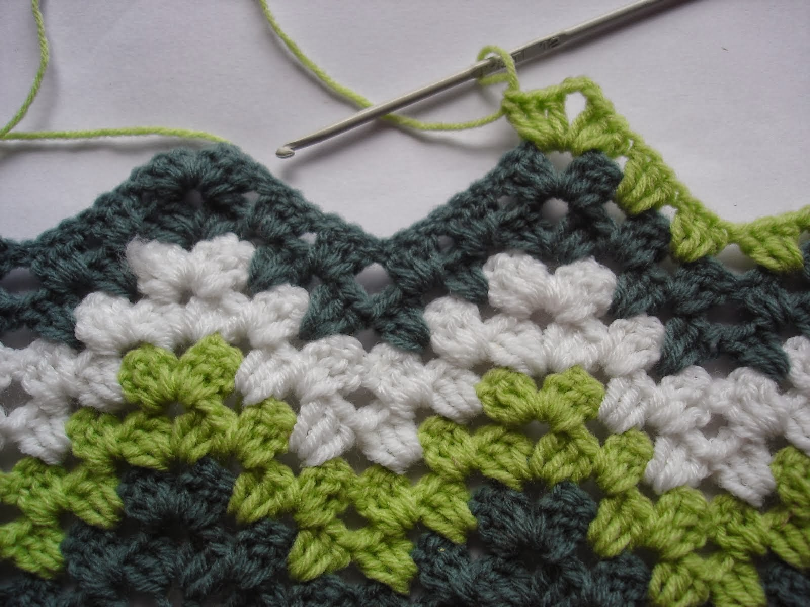 Crochet granny ripple tutorial