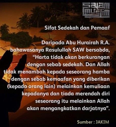 Kelebihan sedekah, kelebihan suka memaafkan kesalahan orang lain, sikap pemaaf