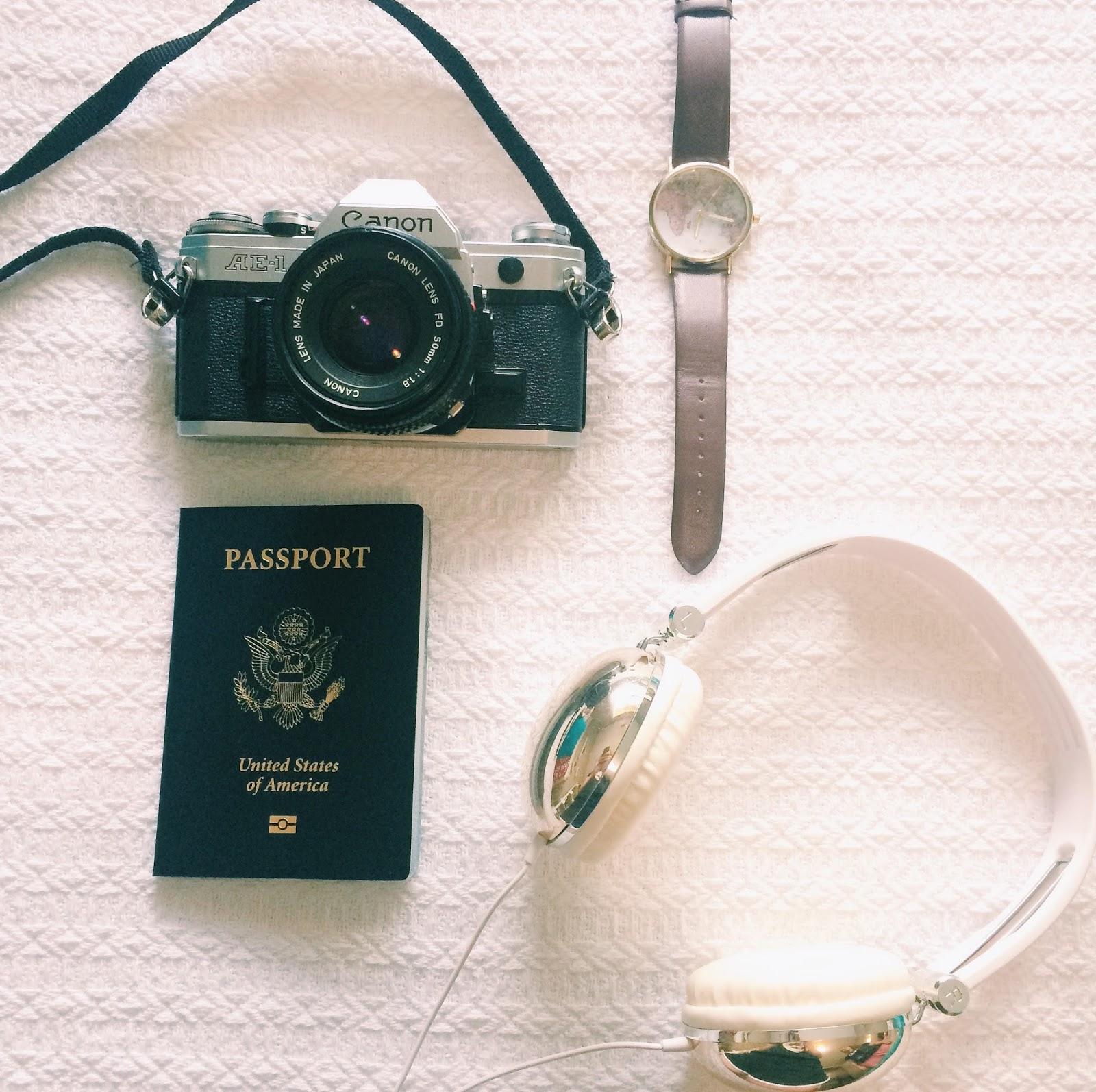 travel essentials collage picture