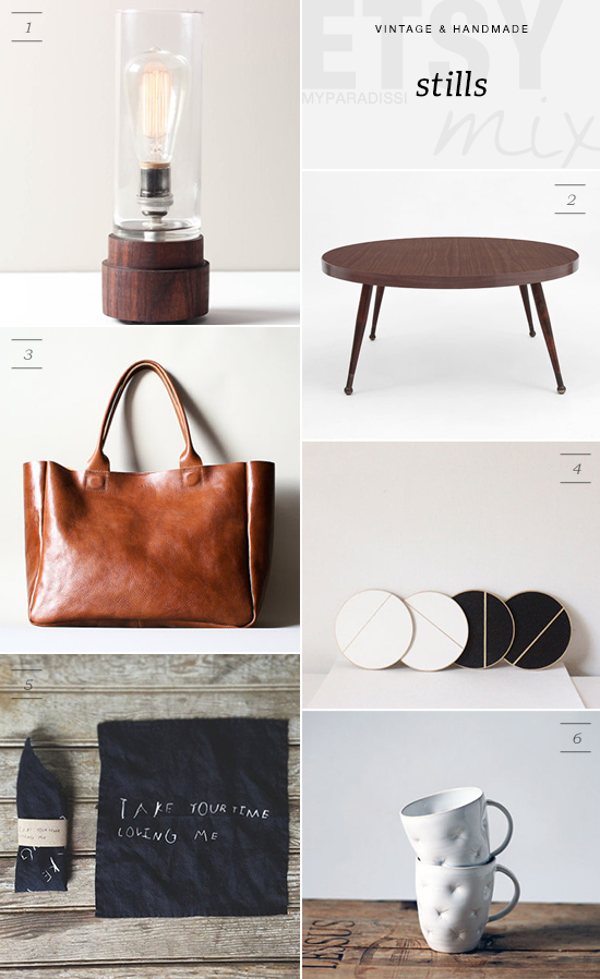 Vintage and handmade etsy picks for a calm neutral space