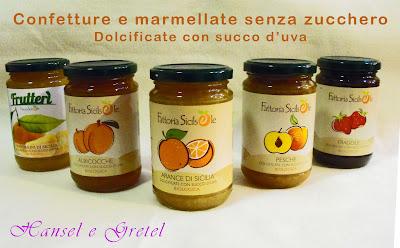 Confetture e marmellate senza zucchero Napoli