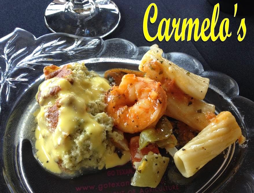 Carmelo's pasta with shrimp and zucchini mousse