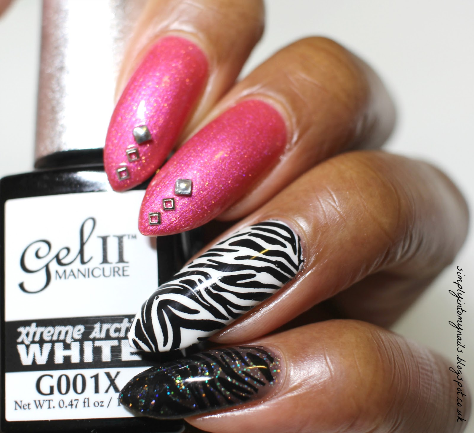 Pink zebra manicure net cancer day simply into my nails pink zebra manicure net cancer day solutioingenieria Choice Image