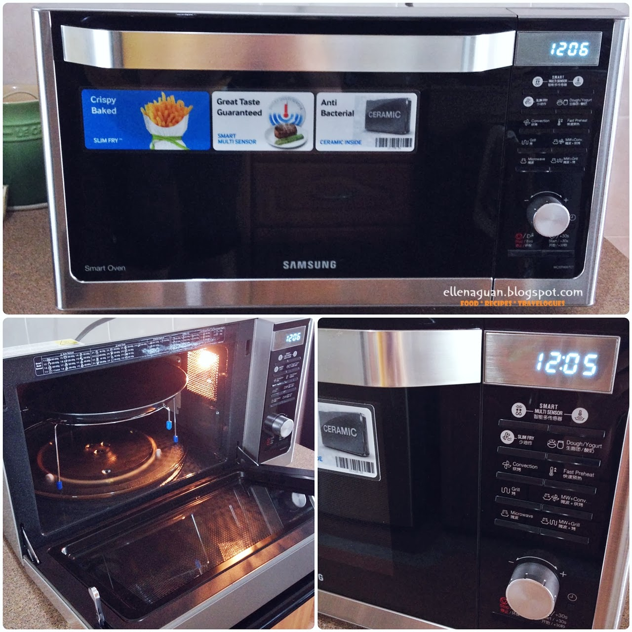 This 32 Litres Samsung Convection Microwave Oven MC32F606 Comes With 25  Sensor Reheat/ Cook Menus That Allows Consumers To Save Time And Effort  When ...