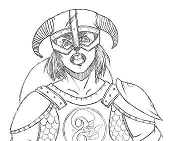 #4 The Elder Scrolls Coloring Page
