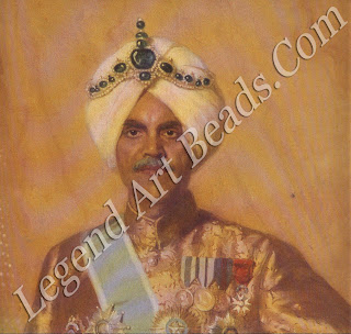 Thrilled with his new Cartier creation, the tiara-like `Kapurthala headdress' of 1926, Jagatjit Singh immediately sat for his portrait in it by the Parisian society painter Marcel Baschet.