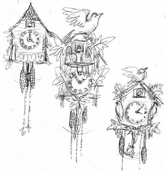 The Hare Illustratere MATS February Kookoo For Cuckoo Clocks