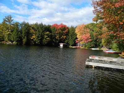Another dockside view of Lake Muskoka cottage Thanksgiving 2012 by garden muses- a Toronto gardening blog