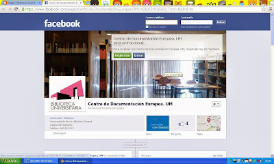 Facebook del Centro de Documentación Europea.