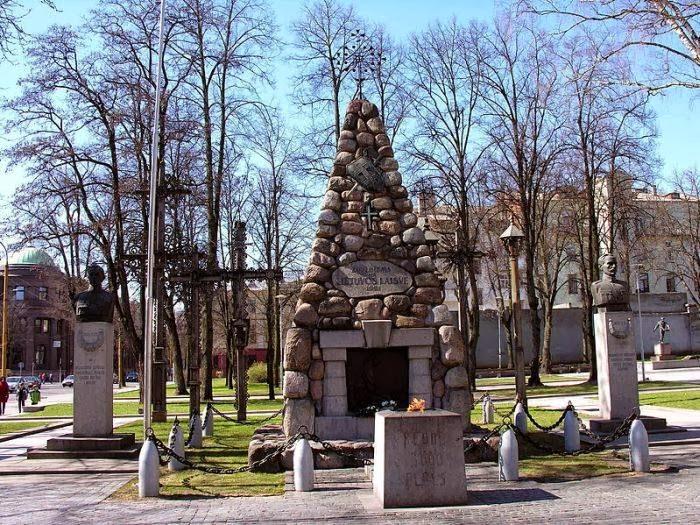 Vienybės Square in Kaunas, Lithuania