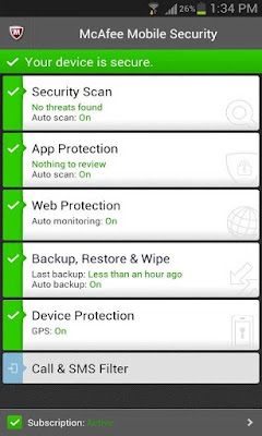 McAfee Free Antivirus & Security 2016 Apk