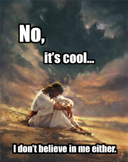 emo jesus no it is cool i do not believe in me either, emo jesus, jesus funny, jesus funny pictures, emo funny jesus, jesus, jesus doesnt belive to himself