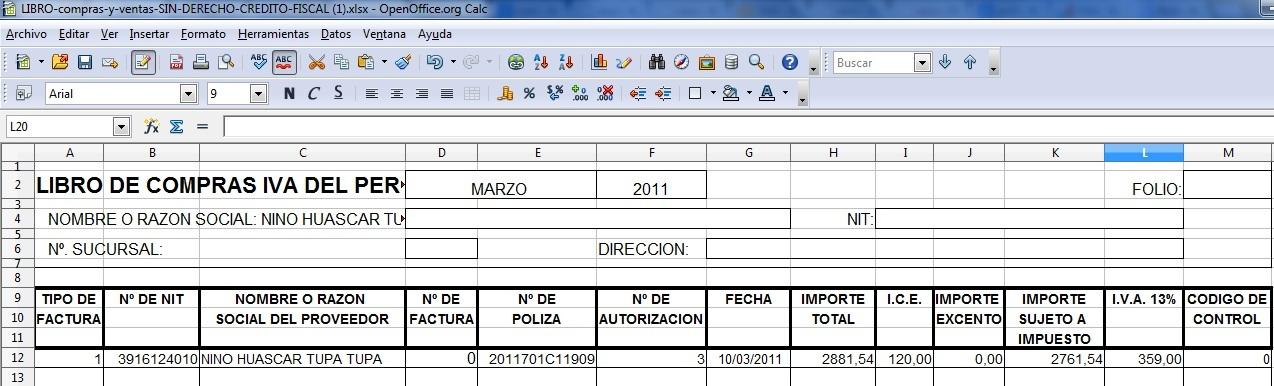 poliza de importacion bolivia