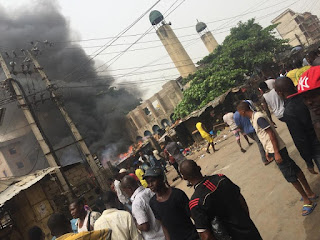 Onitsha Central Mosque set ablaze by Biafra protesters
