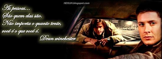 Dean e Sam winchester As pessoas...São quem elas são - Frases sobrenatural - Capas para Facebook