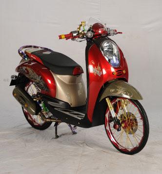 modif motor honda scoopy Racing Look Style pelek ruji tdr