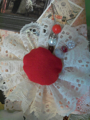 Pin Cushion Flower from Vintage Paris Canvas