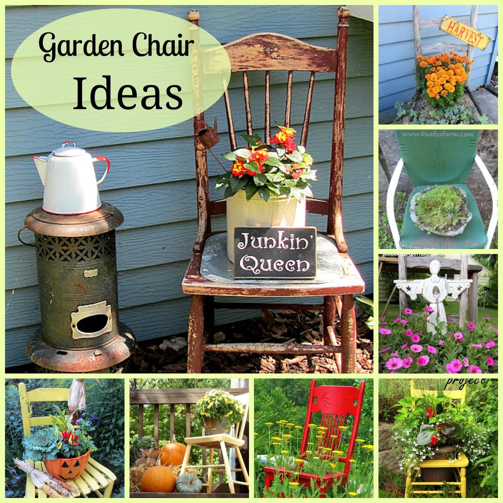 Chair planter ideas organized clutter for Outdoor planter ideas