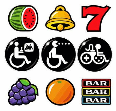 Game Accessibility symbols and lucky dip. Linked to Game Accessibility Guidelines and all sorts of bits and bobs.