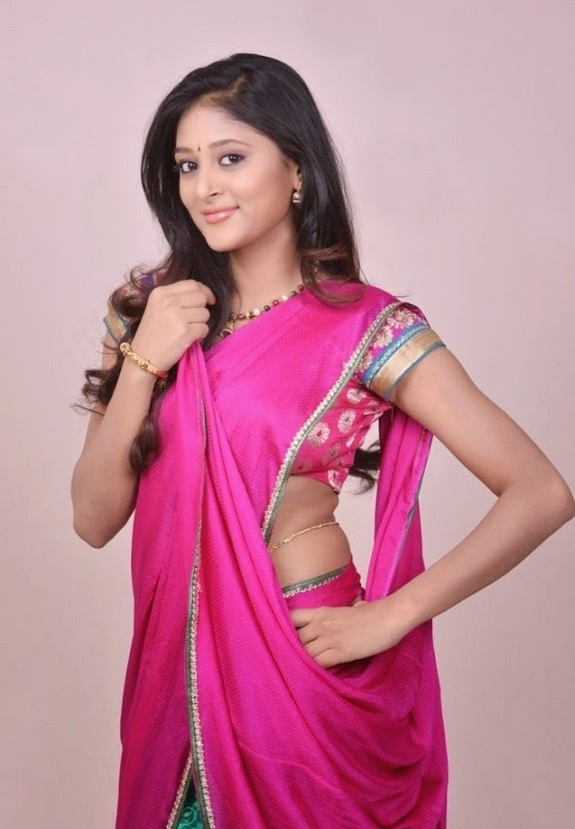 Actress Sushma Raj Latest Cute Hot Exclusive Saree Navel Show ...