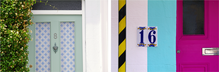 brighton coloured door signs