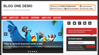 Blog One Theme Template on supercooltemplates.blogspot.com