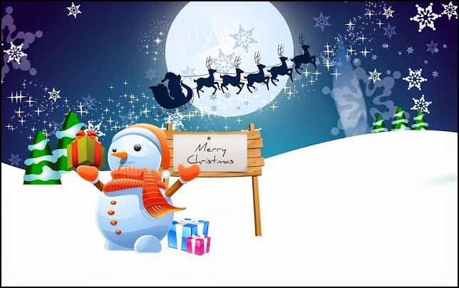 Muñeco de Nieve con mensaje navideño
