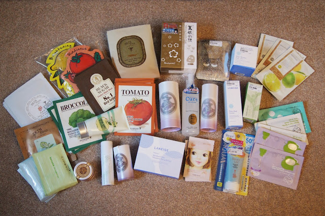 Korean/Asian skincare haul review brands Etude house skinfood laneige innisfree mybeautydiary my scheming