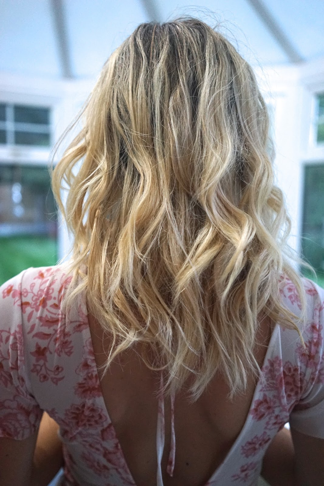 hair with ghd curling wand