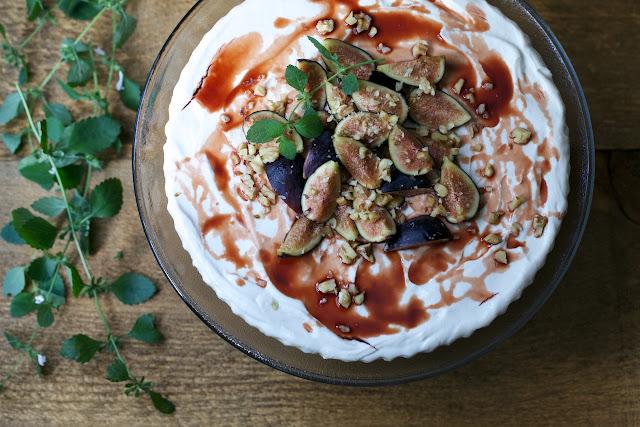 Yogurt & Tahini Tart with Carob Crust