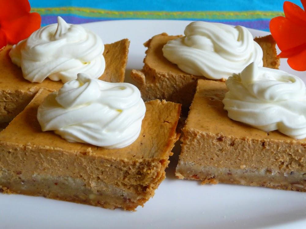 Sour Cream Pumpkin Cheese Cake Bars Low Carb